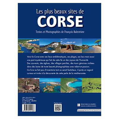 Les plus beaux sites de Corse - François BALESTRIERE verso
