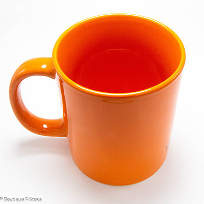 MUG orange Filitosa IX côté haut