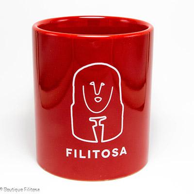 MUG rouge Filitosa XIII face