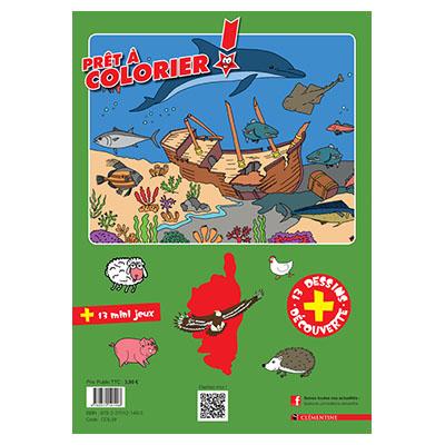 Mon premier cahier de coloriage des animaux de Corse verso
