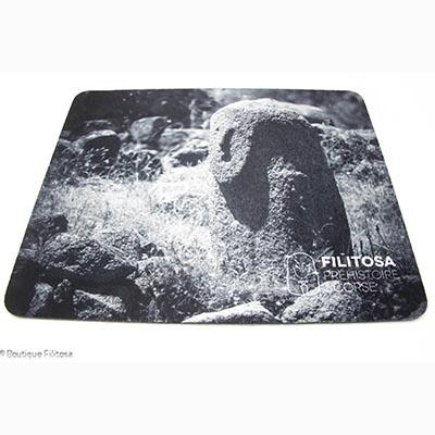 Tapis de souris Filitosa XIII noir et blanc rectangulaire souple